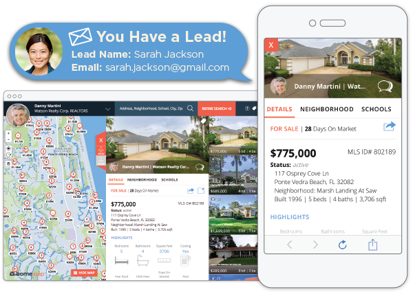 Real Estate Lead Generation using IDX Home Search